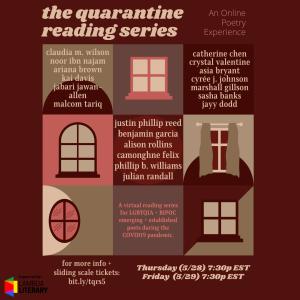 The Quarantine Reading Series Featuring Phillip B. Williams & Justin Phillip Reed image