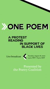 One Poem: A Protest Reading in Support of Black Lives image