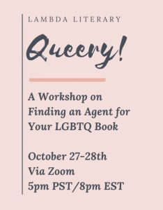 Let's Find an Agent for Your LGBTQ Book image