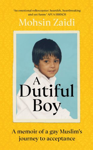 "cover of Mohsin Zaidi's ""A Dutiful Boy"""